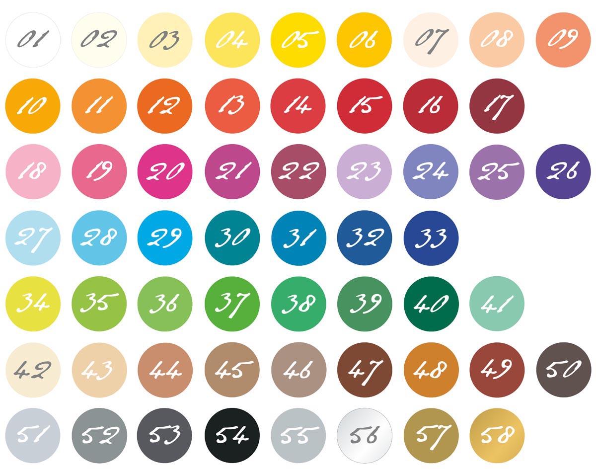 barvy kartonu, z nichž můžete vybírat
